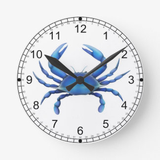 Eastern Blue Crab Wall Clock