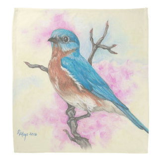 Eastern bluebird bandana