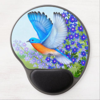 Eastern Bluebird in Garden Computer Mousepad