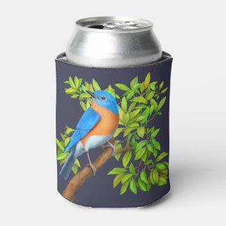 Eastern Bluebird in Tree Can Cooler