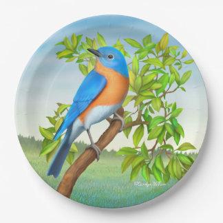 Eastern Bluebird in Tree Paper Plates
