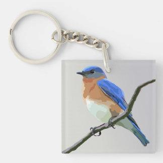 Eastern Bluebird Keychain