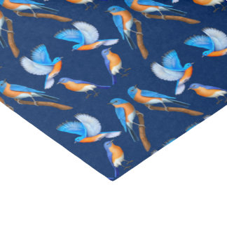Eastern Bluebirds Galore Tissue Paper