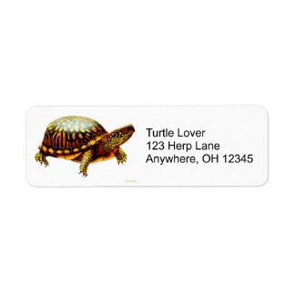 Eastern Box Turtle Label