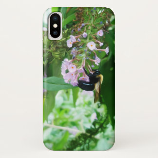 Eastern Carpenter Bee on Salvia flower iPhone X Case