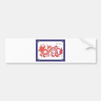 Eastern dragon bumper sticker