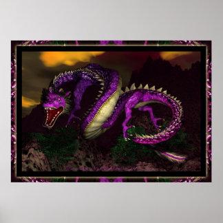 Eastern Dragon By Michelle Wilder Poster