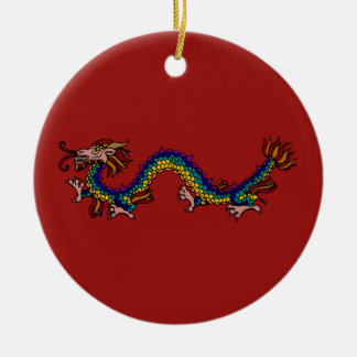Eastern Dragon Ceramic Ornament