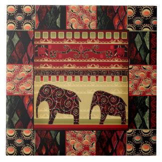 Eastern ethnic national pattern . Patchwork . Tile