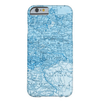 Eastern European Blue Map Phone Case