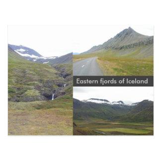 Eastern fjords of Iceland Postcard