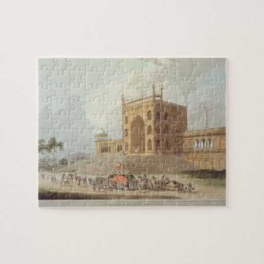 Eastern Gate of the Jummah Musjid at Delhi, from ' Jigsaw Puzzle