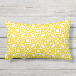 Eastern Geometric Pattern Sunny Yellow Lumbar Pillow