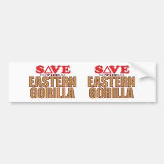 Eastern Gorilla Save Bumper Sticker