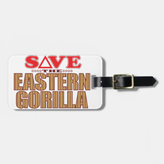 Eastern Gorilla Save Luggage Tag