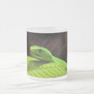 Eastern Green Mamba Dendroaspis Angusticeps Frosted Glass Coffee Mug