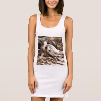 Eastern Grey Kangaroo Ladies Singlet Tank Dress