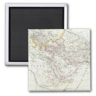 Eastern Hemisphere World Lithographed Map Square Magnet