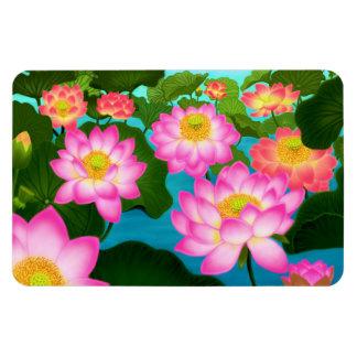 Eastern Lotus Water Garden Premium Magnet