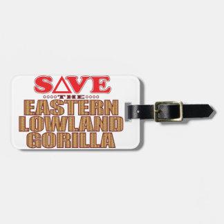 Eastern Lowland Gorilla Save Bag Tag