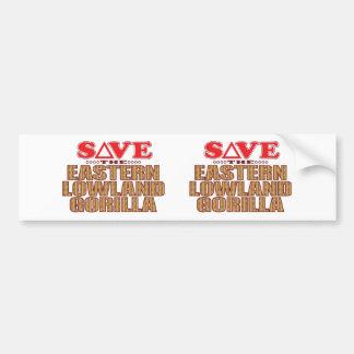 Eastern Lowland Gorilla Save Bumper Sticker