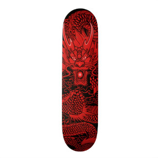 Eastern Ninja Dragon Red Element Custom Pro Deck Skateboard Deck