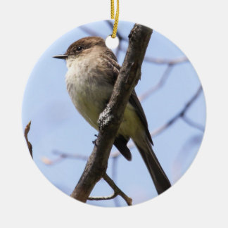 Eastern Phoebe Ceramic Ornament