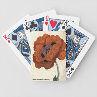 Eastern Poppy Bicycle Playing Cards