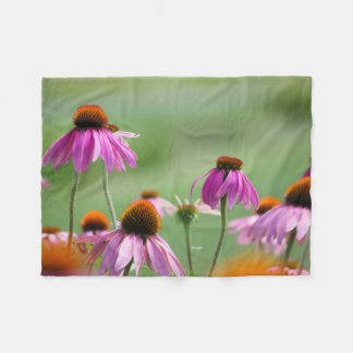 Eastern Purple Coneflowers Fleece Blanket