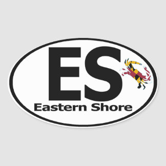 Eastern Shore Decal (set of 4) Oval Sticker