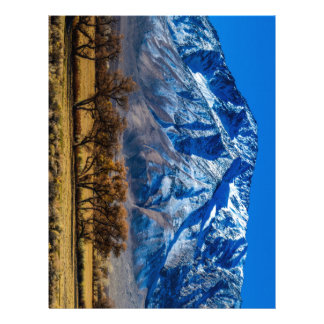 Eastern Sierra Nevada Fall - Bishop - Californa Letterhead Template