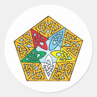 Eastern Star Celtic Knot Round Sticker