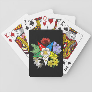 Eastern Star floral playing cards