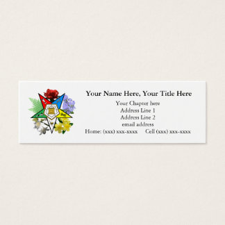 Eastern Star Floral Skinny Business Card