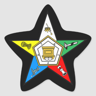 Eastern Star Star Shaped Sticker