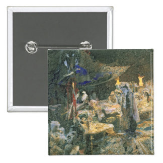 Eastern Tale, 1886 2 Inch Square Button