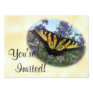"""Eastern Tiger Swallowtail Butterfly 6.5"""" X 8.75"""" Invitation Card"""