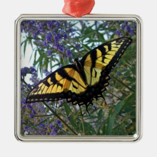 Eastern Tiger Swallowtail Butterfly Metal Ornament