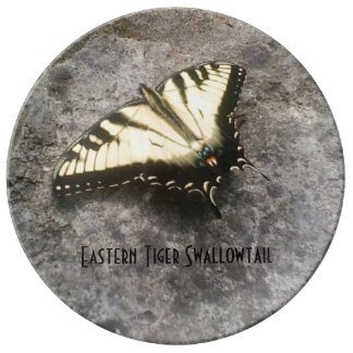 Eastern Tiger Swallowtail Butterfly Porcelain Plates
