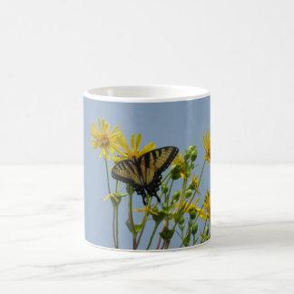 Eastern Tiger Swallowtail on Yellow Daisies Coffee Mug
