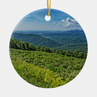 Eastern View from Shenandoah National Park Round Ceramic Ornament