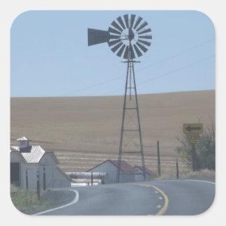 Eastern Washington Windmill Square Sticker