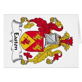 Easton Family Crest Card
