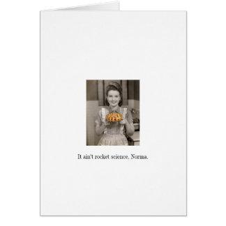 Easy as Pie Blank Greeting Card