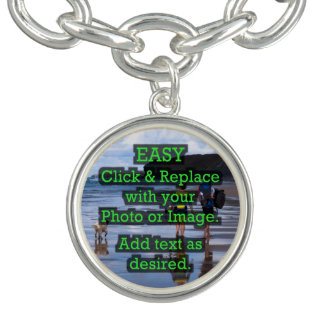 Easy Click & Replace Image to Create Your Own Charm Bracelets
