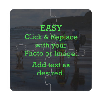 Easy Click & Replace Image to Create Your Own Drink Coaster Puzzle