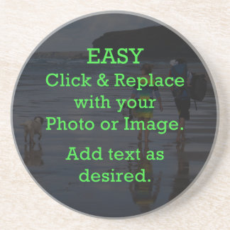 Easy Click & Replace Image to Create Your Own Drink Coasters