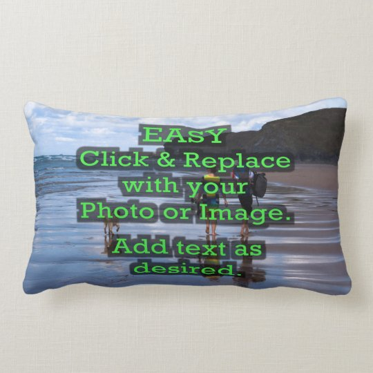 Easy Click & Replace Image to Create Your Own Lumbar Pillow