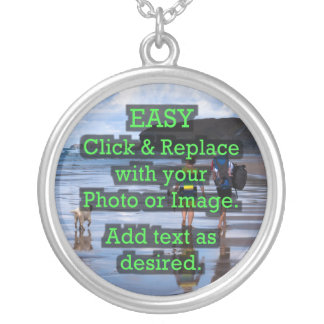 Easy Click & Replace Image to Create Your Own Silver Plated Necklace