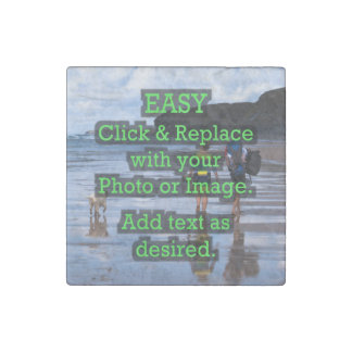 Easy Click & Replace Image to Create Your Own Stone Magnets